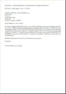Aircon Service Request Letter Sle Request Letter Format For Product Repair Warranty