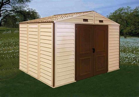 Best Price Sheds 10x8 Duramax 10x8 Woodside Vinyl Shed With Foundation 30214