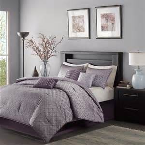 Shop madison park biloxi purple bed covers the home decorating