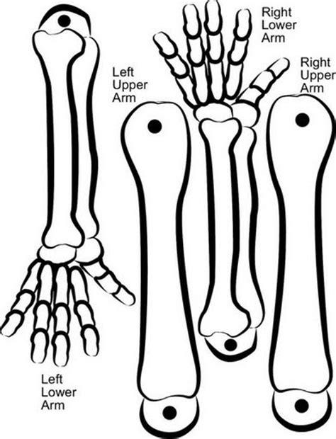imagenes de calaveras recortables como hacer un esqueleto movil en manualidades infantiles