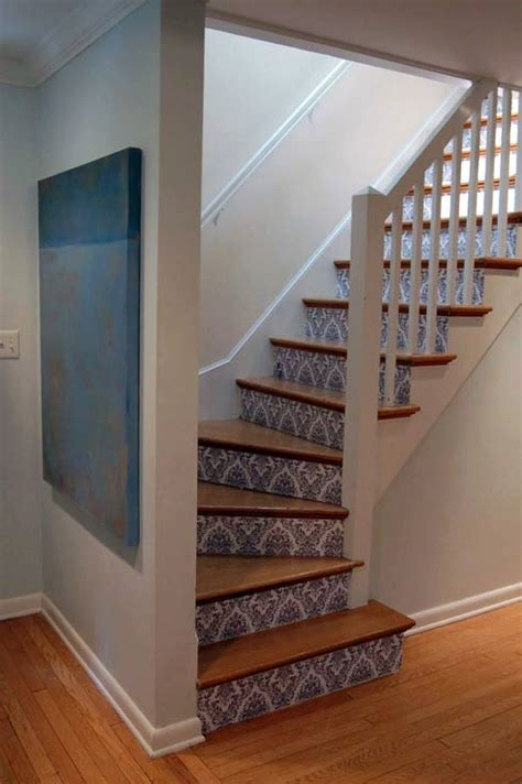 Staircase Makeover Ideas Damask Staircase Makeover Freshome