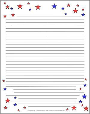 printable flag stationery make a decided splash this memorial day or 4th of july