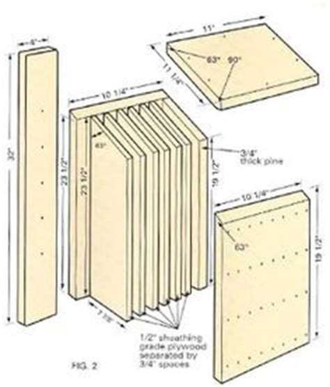 free bat house plans bird box plans woodworking projects plans