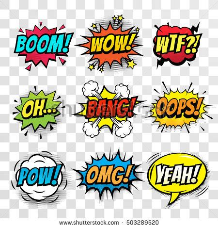 vector comic speach bubble prase boom stock vector
