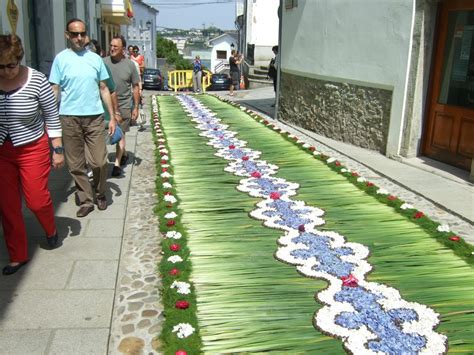 alfombras gijon corpus christi flower carpets in castropol asturias