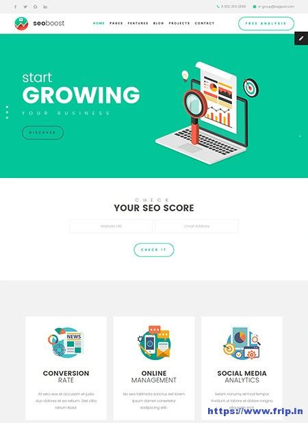 30 Best Seo Website Templates For Seo Companies Agency 2017 Frip In Html Template Builder