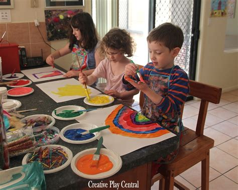 painting to play painting activities creative play central