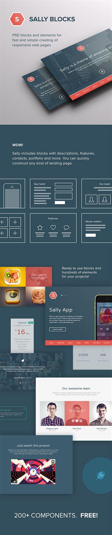 wordpress layout blocks sally blocks responsive joomla and wordpress themes