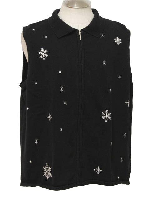 ugly christmas sweater vest allison daley unisex black
