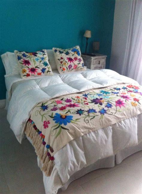 mexican embroidered bedding de 50 b 228 sta bordado mejicano bilderna p 229 pinterest
