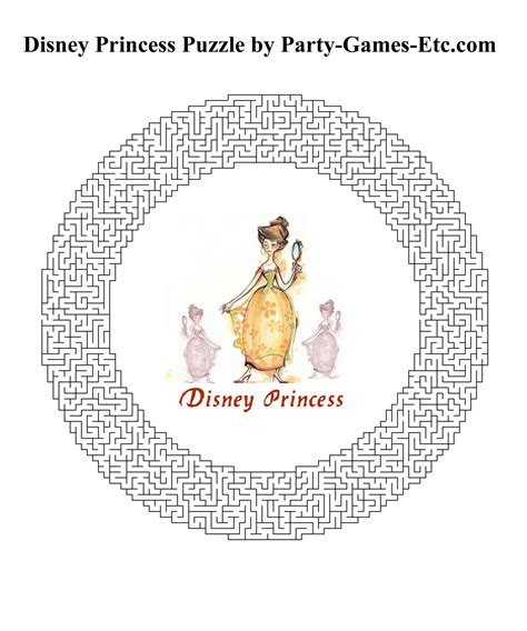 printable disney games 8 best images of disney princess printable activities
