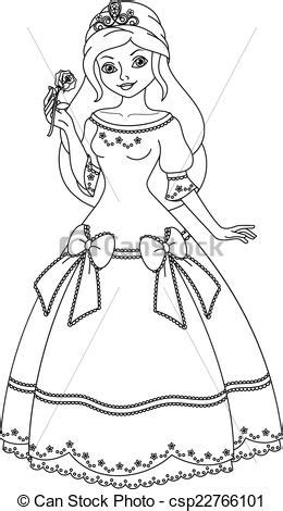 Princess Printable Clipart Clipground Princess Black And White Free Coloring Sheets