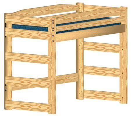 loft bed woodworking plan twin size standard loft buy