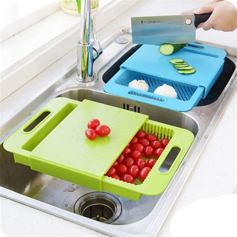 kitchen sink cutting board 3 in 1 kitchen sink cutting board removable chopping
