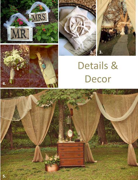 Decorating Ideas With Burlap Burlap Wedding Decor Ideas Something Something New