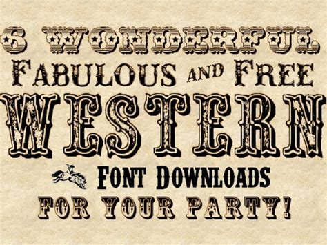 printable western font letters free cute fonts fontspace party invitations ideas