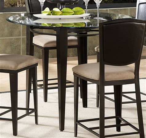 glass top bar height table homelegance rockdale counter height dining table with 45in