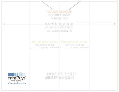 double gate fold brochure template