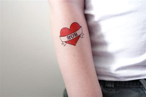 i love mom tattoo i temporary temporary tattoos by tattoorary