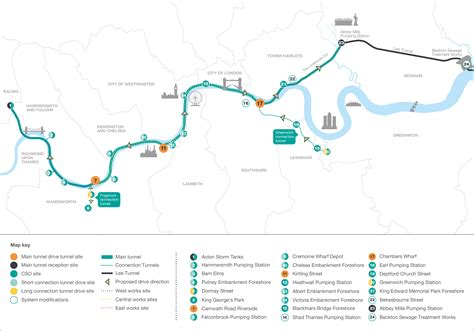 tidal river thames map what is the thames tideway tunnel
