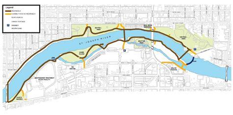 riverwalk map riverwalk city of mishawaka