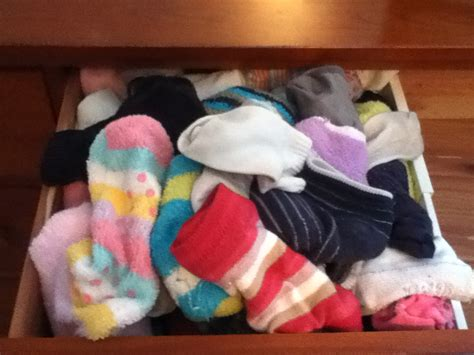 organizing my sock drawer a mess to get it clean
