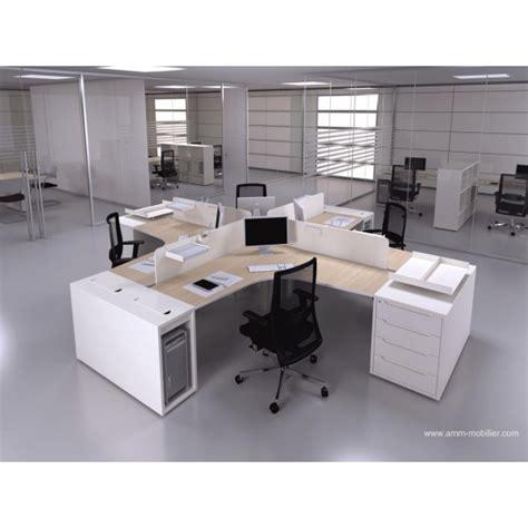 configuration bureau bureau op 233 ratif 90 degr 233 s logic bois naturel et blanc