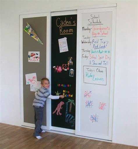 chalkboard sliding closet doors sliding closet doors chalkboard erase corkboard