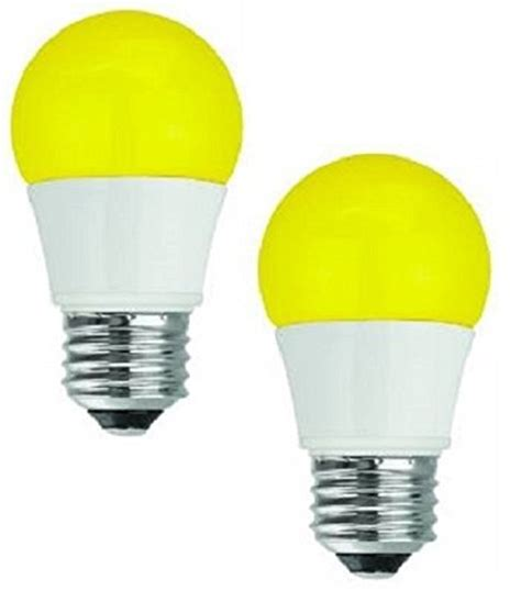 Bug Light Bulbs Led Save 11 Tcp New 40 Watt Equivalent 2 Pack Led Yellow Bug Light Bulbs Non Dimmable Rla155y2