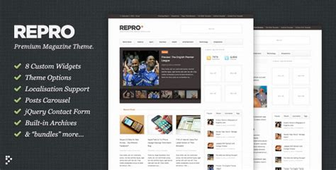 themeforest north theme repro themeforest premium wordpress news magazine