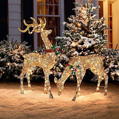 christmas outdoor lighted deer family holiday light decorati glitter sequin buck doe decor home stuff reindeer decor