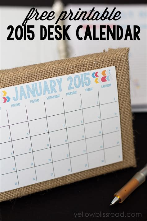 2015 planner daily planner and menu planner yellow