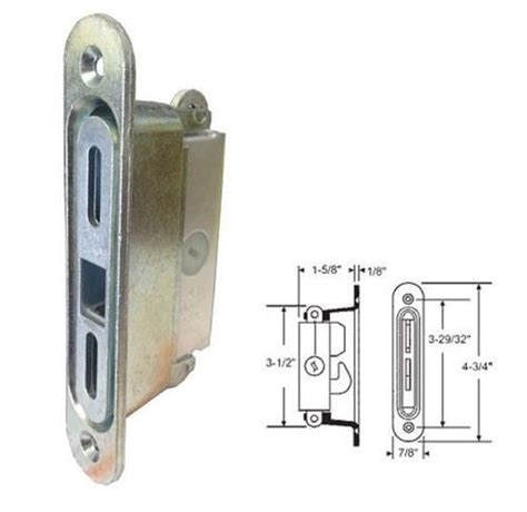 Sliding Glass Patio Door Lock Stb Sliding Glass Patio Door Lock Mortise Type 3 11 16 Quot Holes Ebay
