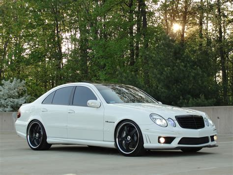 mercedes white white on black mercedes benz w211 e55 amg benztuning