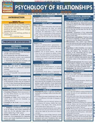 reference book psychology psychology of relationships laminate reference chart by