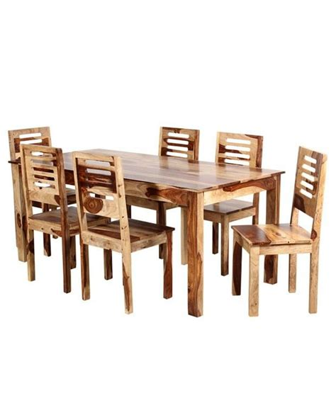 Ethnic India Madrid 6 Seater Sheesham Wood Dining Set With Table Buy Ethnic India Ethnic India Sheesham Wood 6 Seater Dining Set In Finish Buy At Best Price