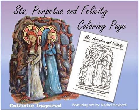 sts perpetua  felicity coloring page honoring