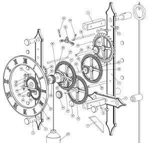 file complete wooden clock escapement plans