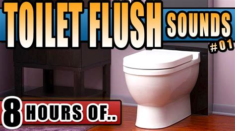bathroom sounds toilet flush sound effect toilet sound 8 hours of toilet