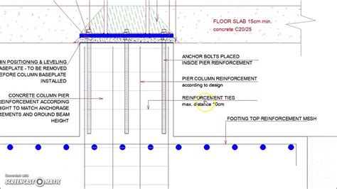 pier vs column steel column footing foundation detail youtube