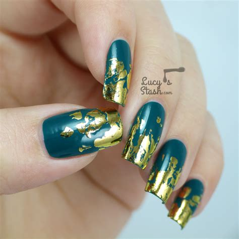 Nail Foil by Distressed Gold Nail Foil Design With Tutorial S Stash