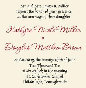 wedding invitation to parents wedding invitation wording both parents theruntime