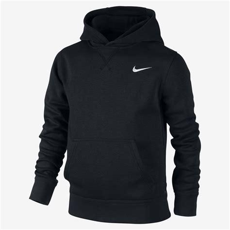 nike boys sports running tracksuit top black navy grey hoodie ebay