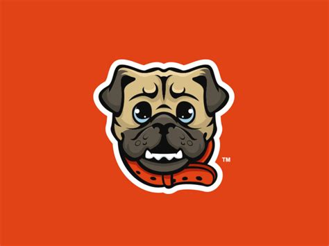 pug mascot puginator mascot logo by travis howell dribbble