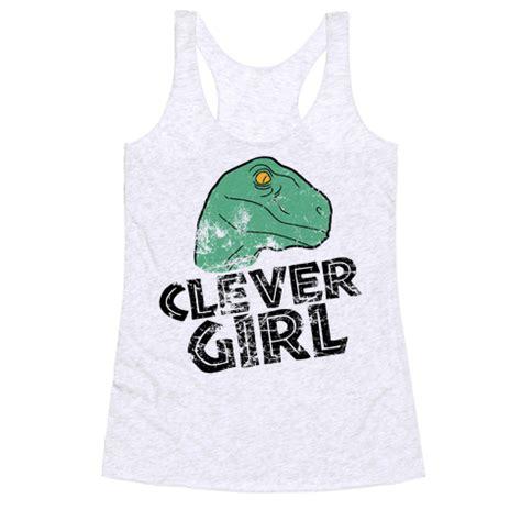 human clever raptor vintage clothing racerback