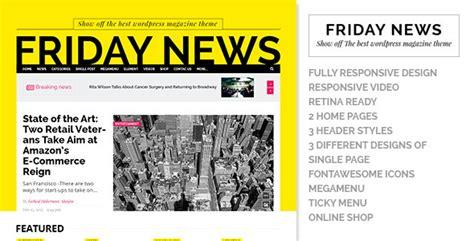 friday news html5 template wordpress theme