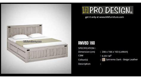 Ranjang Pro Design rmvbd 160 ranjang laci minimalis romanov pro design