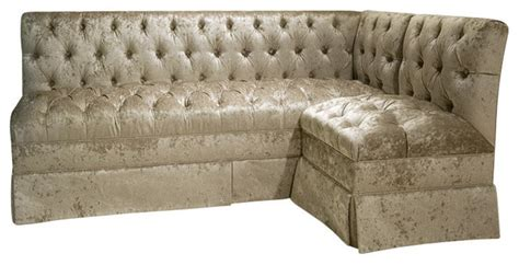 tufted banquette bench tufted l shape banquette traditional dining benches