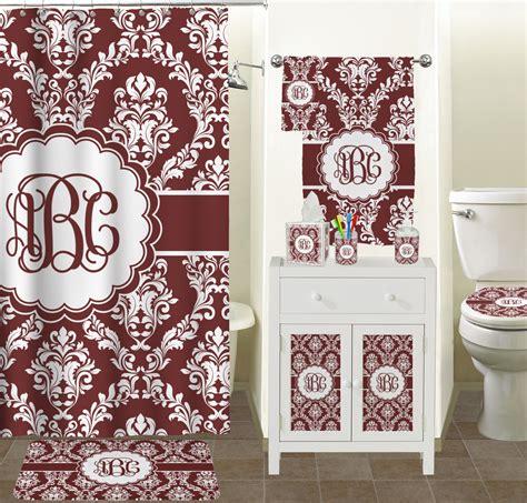 Maroon White Bathroom Accessories Set Ceramic Maroon Bathroom Accessories