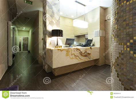 marble reception desk reception area with marble reception desk stock photo